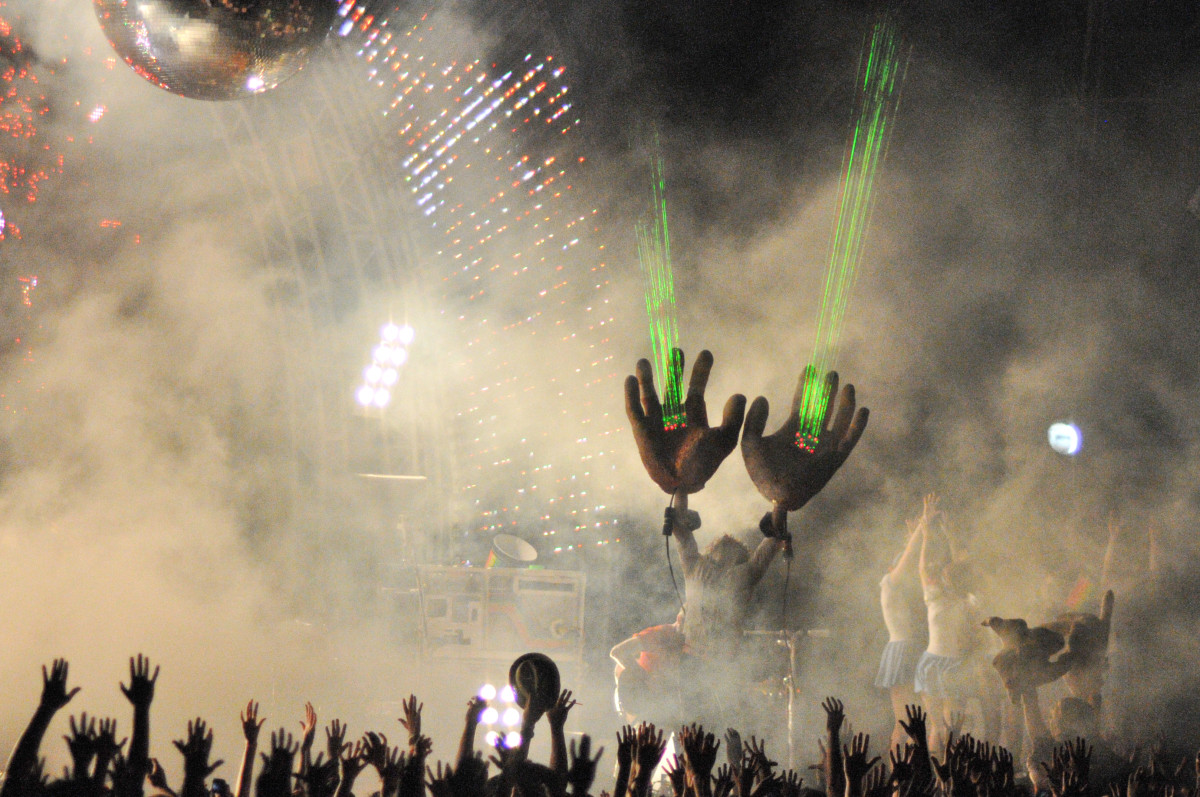 Photo:Flaming Lips - Hands by Laura Carbone